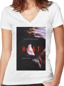 HEAT 8 Women's Fitted V-Neck T-Shirt