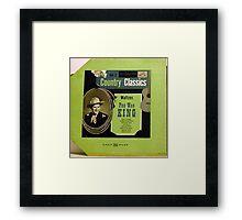 "Pee Wee King Country Classics 10""lp Waltzes, Western Swing Framed Print"