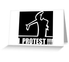 Cool Funny Cartoon I Protest Greeting Card
