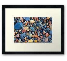 Superior Rock Finds Framed Print