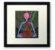 maditation, yoga  Framed Print