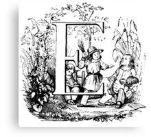 Child Alphabet Letter E Canvas Print