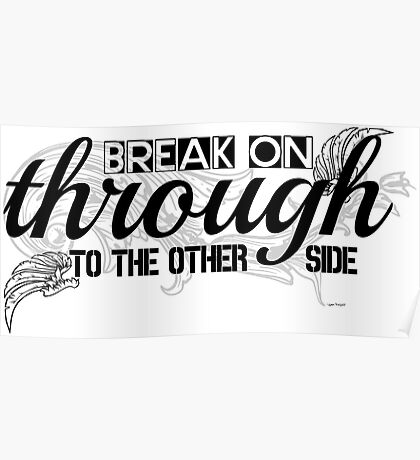 The Doors Break On Through Lyrics  Poster