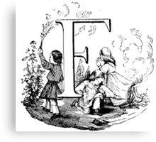 Child Alphabet Letter F Canvas Print