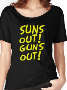 SUNS OUT! GUNS OUT! Women's Relaxed Fit T-Shirt