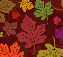 Colorful Autumn Foliage Fall Leaf Pattern Sticker