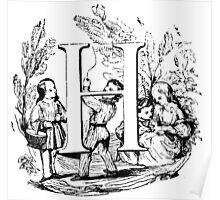 Child Alphabet Letter H Poster