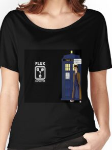 Dr Who David Tennant vs Back to the Future Women's Relaxed Fit T-Shirt