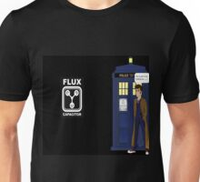 Dr Who David Tennant vs Back to the Future Unisex T-Shirt