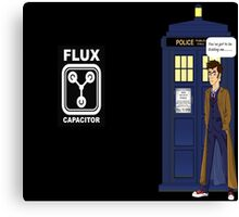 Dr Who David Tennant vs Back to the Future Canvas Print