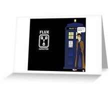 Dr Who David Tennant vs Back to the Future Greeting Card