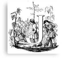 Child Alphabet Letter J Canvas Print