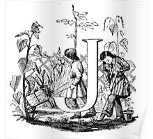 Child Alphabet Letter J Poster
