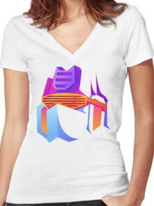 Retro Soundwave Women's Fitted V-Neck T-Shirt