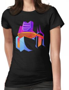 Retro Soundwave Womens Fitted T-Shirt