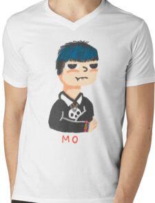Blue Punk Mens V-Neck T-Shirt