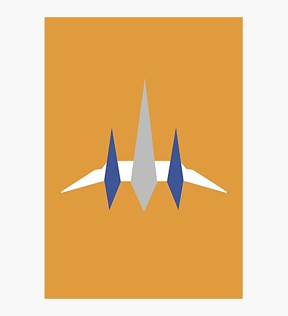 Star Fox - Flat Arwing Photographic Print