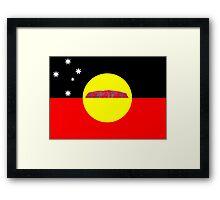 Koori Australian Flag  Framed Print