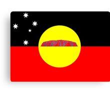 Koori Australian Flag  Canvas Print