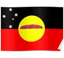 Koori Australian Flag  Poster