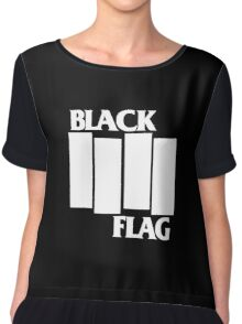 Black Flag Band Chiffon Top