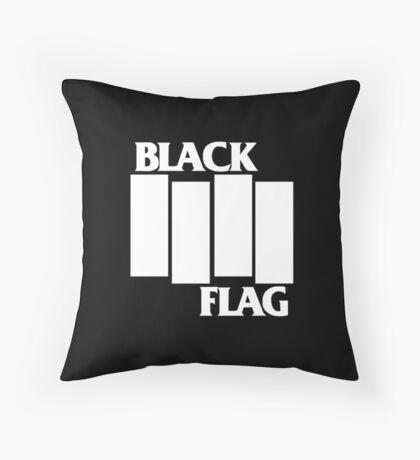 Black Flag Band Throw Pillow