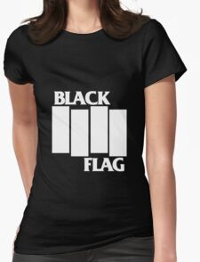 Black Flag Band Womens Fitted T-Shirt