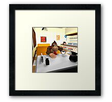 Donkey Kong at breakfast Framed Print
