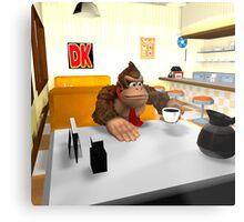 Donkey Kong at breakfast Metal Print