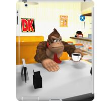 Donkey Kong at breakfast iPad Case/Skin