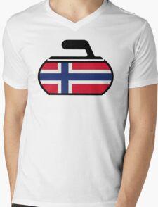 Norwegian Curling Mens V-Neck T-Shirt
