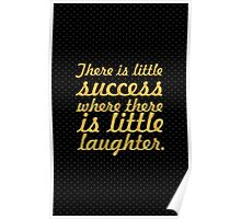 """There is little success... """"Andrew Carnegie"""" Inspirational Quote Poster"""