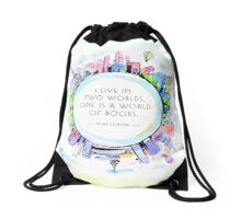 Rory Gilmore Bookish World Drawstring Bag