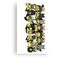 The Naruto Gang With There Real Spirit Animal Canvas Print