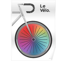 Le Velo Blanc Poster