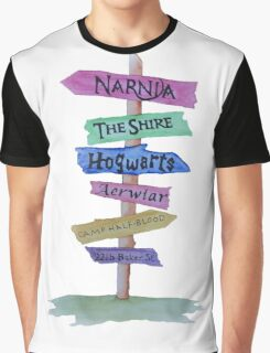 Signpost to Fandoms Graphic T-Shirt