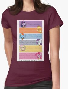 I Am A Princess [Mane 6] Womens Fitted T-Shirt