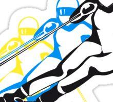 Winter Urlaub ski abfahrt design kunst  Sticker