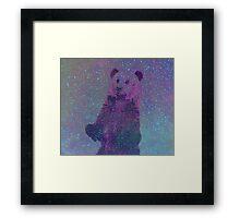 Bear Nebula (brown bear in a starry sky) Framed Print