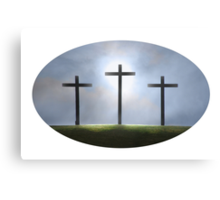 Three Crosses of Easter Canvas Print
