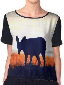 Doe, A Deer Chiffon Top