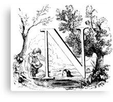 Child Alphabet Letter N Canvas Print