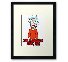the trial of rick sanchez Framed Print