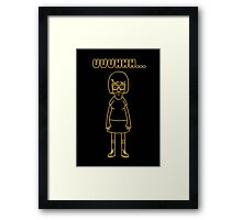 Tina Belcher Yellow Framed Print