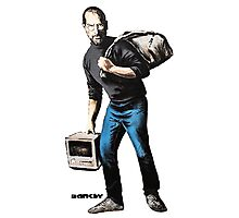 Banksy - Steve Jobs Photographic Print