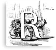 Child Alphabet Letter R  Canvas Print