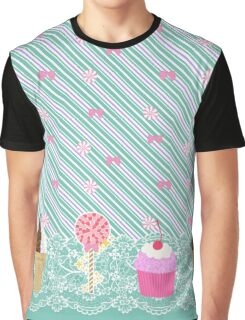Wreck It Ralph Vanellope Von Schweetz Inspired Candy Print Graphic T-Shirt