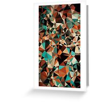 Abstraction #007 Multicolor Triangles  Greeting Card