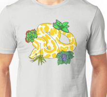 Albino Ball Pythons with Succulents Unisex T-Shirt
