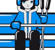 Winter Urlaub ski  Sticker